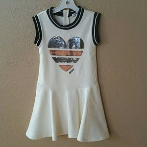 DKNY Cream dress kid size 6x